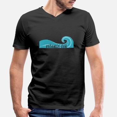 Sea Surfer / Surfing: Vitamin Sea - Men's Organic V-Neck T-Shirt
