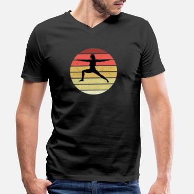 Search Yoga Meditate Meditation Vintage Design - Men's Organic V-Neck T-Shirt