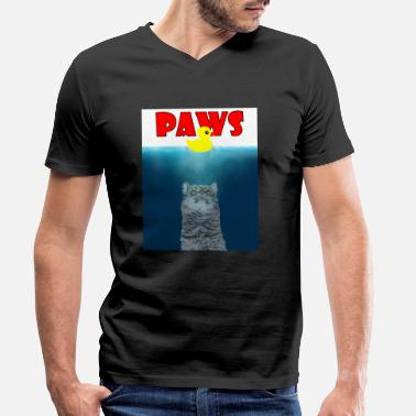 Paw Paws - Paws - - Men's Organic V-Neck T-Shirt