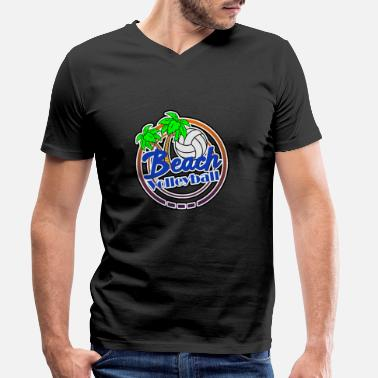 Beach Beach Volleyball Beach Beach - Men's Organic V-Neck T-Shirt