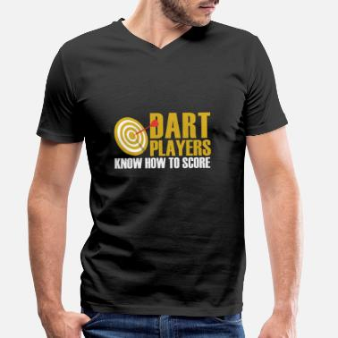 Dart Darts player - Men's Organic V-Neck T-Shirt