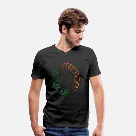 Painter T-Shirts - To draw - Men's Organic V-Neck T-Shirt black