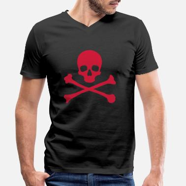 Skull And Crossbones Skull & Crossbones - Men's Organic V-Neck T-Shirt