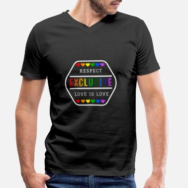 Exclusif Fierté Gay LGBT exclusive - T-shirt bio col V Homme
