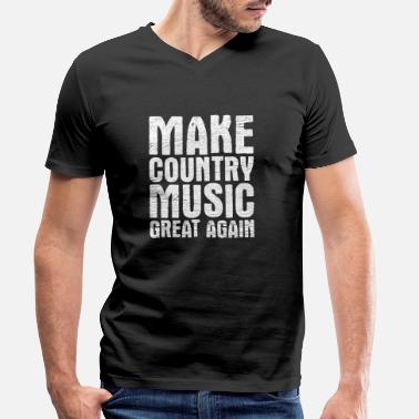 Country music - Men's Organic V-Neck T-Shirt