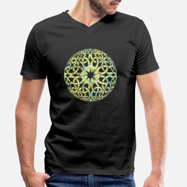 Wicca celtic knot 18 e 219 - Men's Organic V-Neck T-Shirt