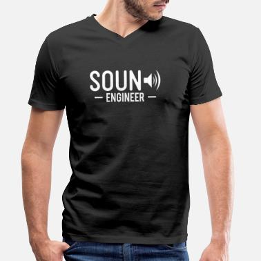 Cassette Sound Engineer T-Shirt Sound Engineer Gift - Men's Organic V-Neck T-Shirt