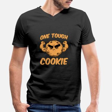 Tough Guy ONE TOUGH COOKIE - Men's Organic V-Neck T-Shirt