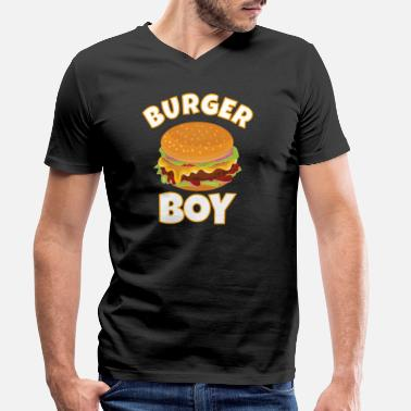 Restaurant HAMBURGER / CHEESEBURGER: Burger Boy - Men's Organic V-Neck T-Shirt