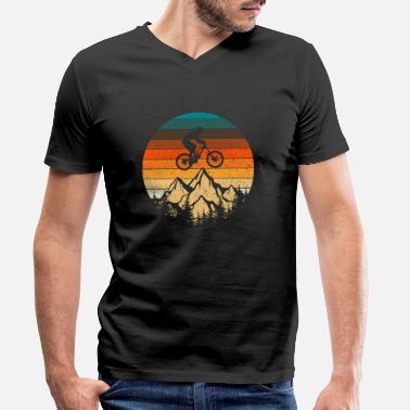 Tain Mountain bike downhill retro vintage gift - Men's Organic V-Neck T-Shirt