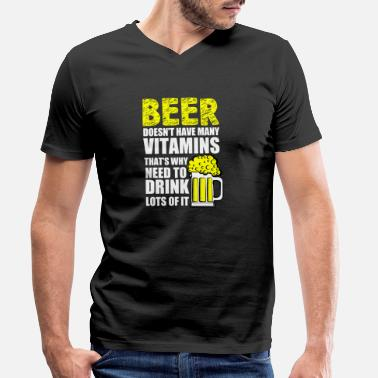 Belly Beer vitamins - Men's Organic V-Neck T-Shirt