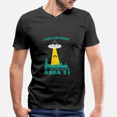 Prohibition Area 51 - They cant stop us all - Men's Organic V-Neck T-Shirt