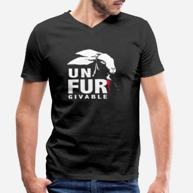 Fur unFURgivable - Men's Organic V-Neck T-Shirt