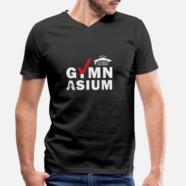 Gymnasium Gymnasium School Done Passed Abi graduation - Men's Organic V-Neck T-Shirt