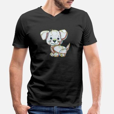 Collection For Kids Cute dog - Men's Organic V-Neck T-Shirt