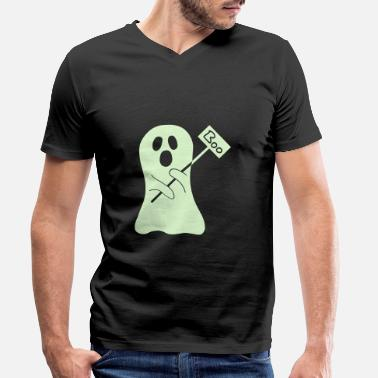 Halloween Ghost - Men's Organic V-Neck T-Shirt
