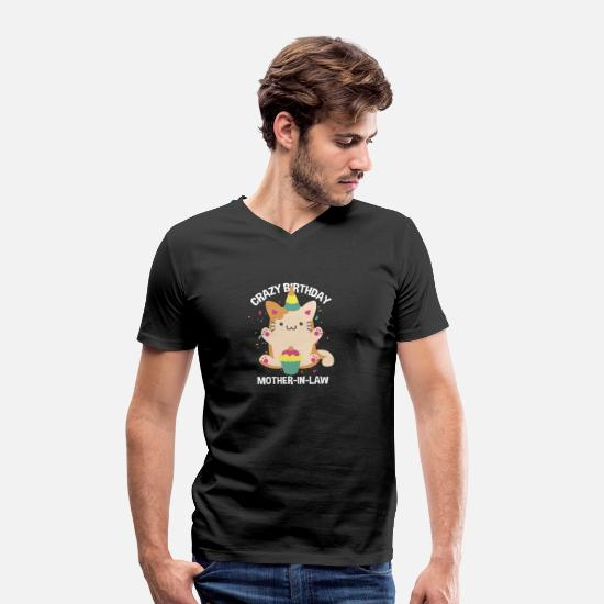 Celebrate T-Shirts - Funny Crazy Birthday Mother-In-Law - Men's Organic V-Neck T-Shirt black
