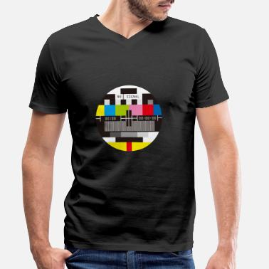 Tv Television Test Screen No Signal - T-shirt bio col V Homme