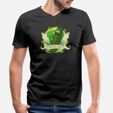Officialbrands Rick And Morty I'm Pickle Rick Funny Quote - Men's Organic V-Neck T-Shirt