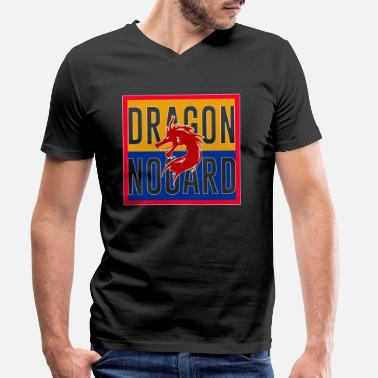 Chinese Asian Dragon, Asian, Chinese, dragon - Men's Organic V-Neck T-Shirt by Stanley & Stella
