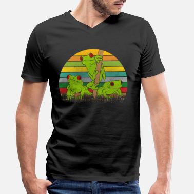 Frog Retro frogs frog - Men's Organic V-Neck T-Shirt