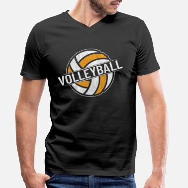Équipe De Volley-ball Équipe de volley-ball volley-ball - T-shirt bio col V Homme