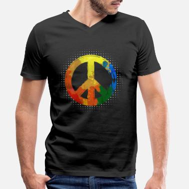Movement Hippie Hippie Movement Peace Movement Peace - Miesten v-aukkoinen t-paita