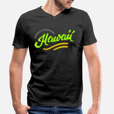 Hawaii Hawaii - Men's Organic V-Neck T-Shirt