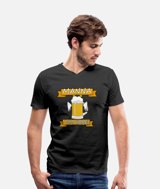 Wing T-Shirts - Manna from the sky funny angel's beer gift - Men's Organic V-Neck T-Shirt black