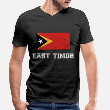 East Timor East Timor Flag East Timor Dili Dare Gift - Men's Organic V-Neck T-Shirt by Stanley & Stella