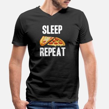 Diavolo Sleep Pizza Repeat | Pizza Eater | Salami pizza - T-shirt med V-ringning herr