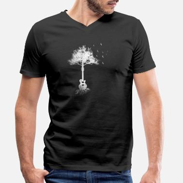 Music Gift tree guitarist guitar electric guitar eGuitar - Men's Organic V-Neck T-Shirt