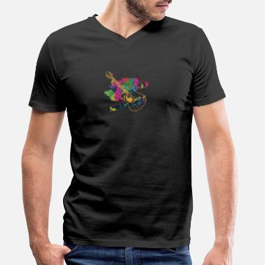 Acoustic Guitar Acoustic Guitar - Men's Organic V-Neck T-Shirt