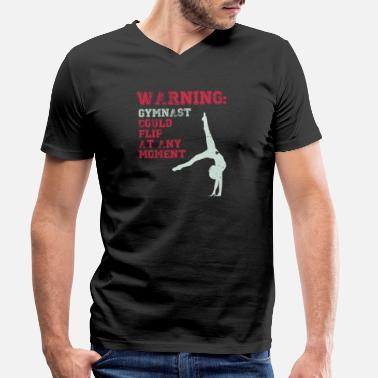 Teen Warning Gymnast Could Flip At Any Moment Teen Girl - Men's Organic V-Neck T-Shirt by Stanley & Stella