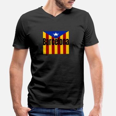 cfc4b67dc57 Barca Barcelona Barca Barcelona Catalan - Men  39 s Organic V-Neck T