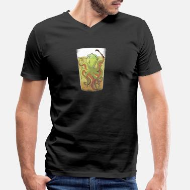 Kraken Kraken In A Beer Glass - Men's Organic V-Neck T-Shirt by Stanley & Stella