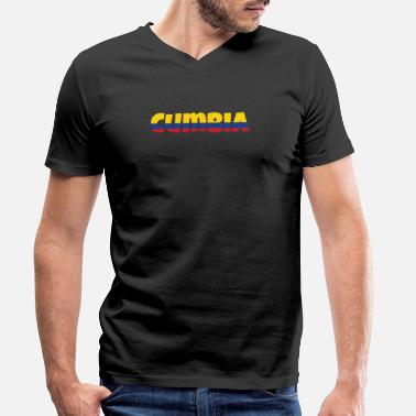 Folk Dance Cumbia T Shirt Gift for Colombian Folk Dance - Men's Organic V-Neck T-Shirt by Stanley & Stella