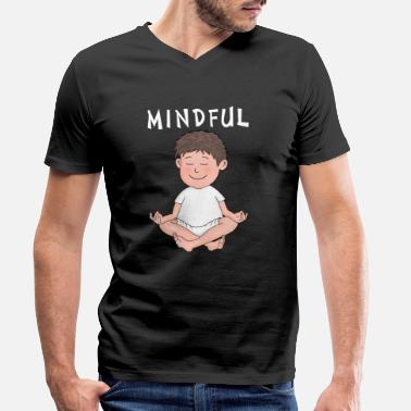 Mindfulness mindful - mindfulness - Men's Organic V-Neck T-Shirt