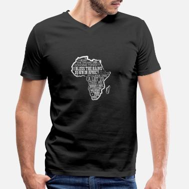 Proudly African Africa Map Traditional Continent T-Shirt - Men's Organic V-Neck T-Shirt by Stanley & Stella
