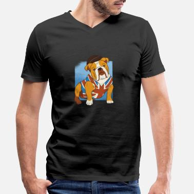 The British Empire British Bulldog - British Bulldog - Dog - Men's Organic V-Neck T-Shirt