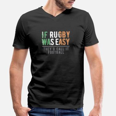 Rugby Funny Rugby print | Irish | Football - Men's Organic V-Neck T-Shirt