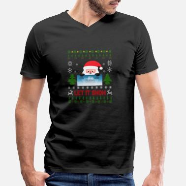 Let Let it snow Cocaine Ugly Christmas Sweater - Men's Organic V-Neck T-Shirt