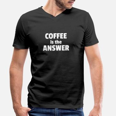 Coffee Latte Coffee coffee tshirt design - Men's Organic V-Neck T-Shirt