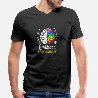 Embrace Neurodiversity - Men's Organic V-Neck T-Shirt