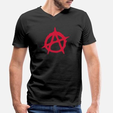 Anarchy Anarchy symbol sign illustration - Men's Organic V-Neck T-Shirt