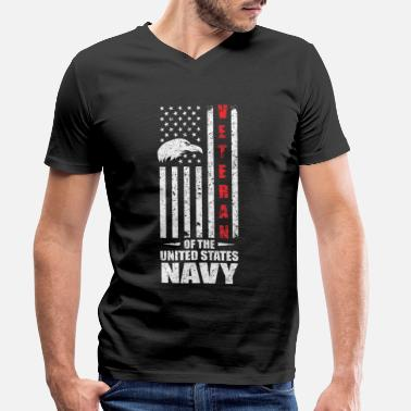 Us Navy - Men's Organic V-Neck T-Shirt