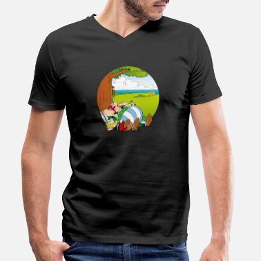 Asterix & Obelix Dogmatix Relaxing - Men's Organic V-Neck T-Shirt