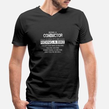 Conductor Conductor - Men's Organic V-Neck T-Shirt