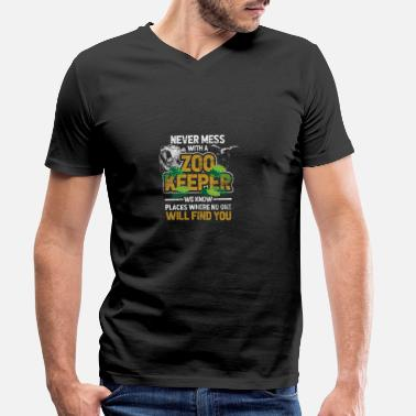 Zoo Animal Zoo animal Zoo Zoo animal keeper - Men's Organic V-Neck T-Shirt