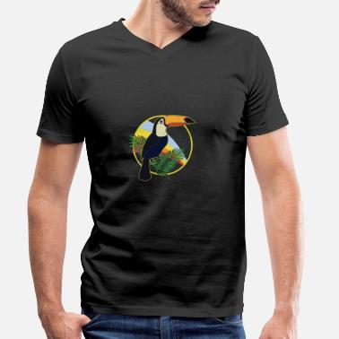 Jungle Toucan bird rainforest animal jungle gift - Men's Organic V-Neck T-Shirt